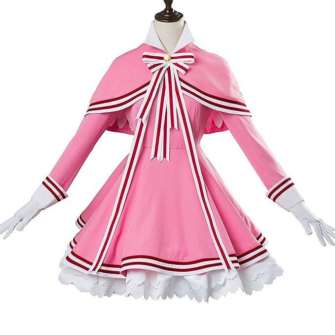 Amazon.com: Sakura Kinomoto disfraz de cosplay uniforme ...