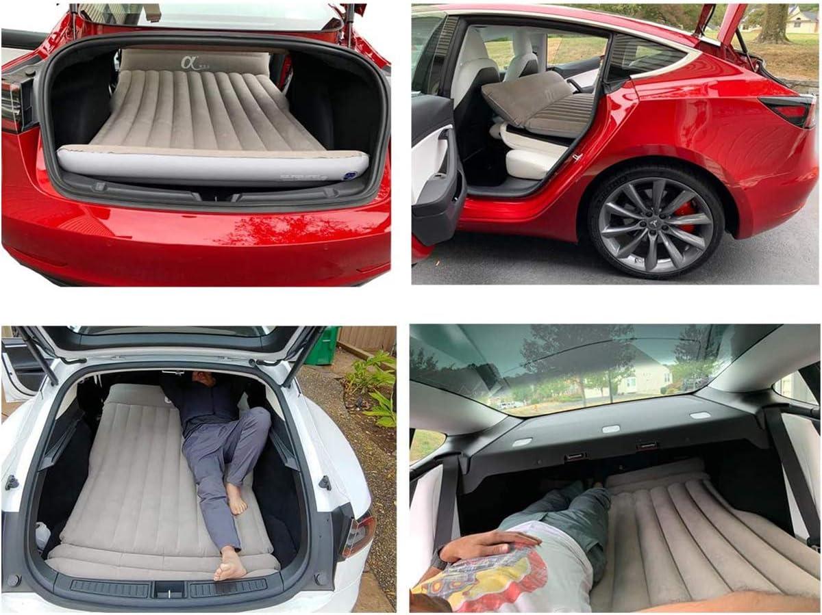 Topfit Auto Aufblasbare Matratze Travel Camping Air Bed Universal Für Alle Suv Fahrzeuge Und Angepasst Für Tesla Model S Model X 5 Seat Und Model 3 Model Y Auto