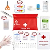 Small Travel First Aid Kit - 87 Piece Clean, Treat and Protect Most Injuries,Ready for Emergency at Home, Outdoors, Car…