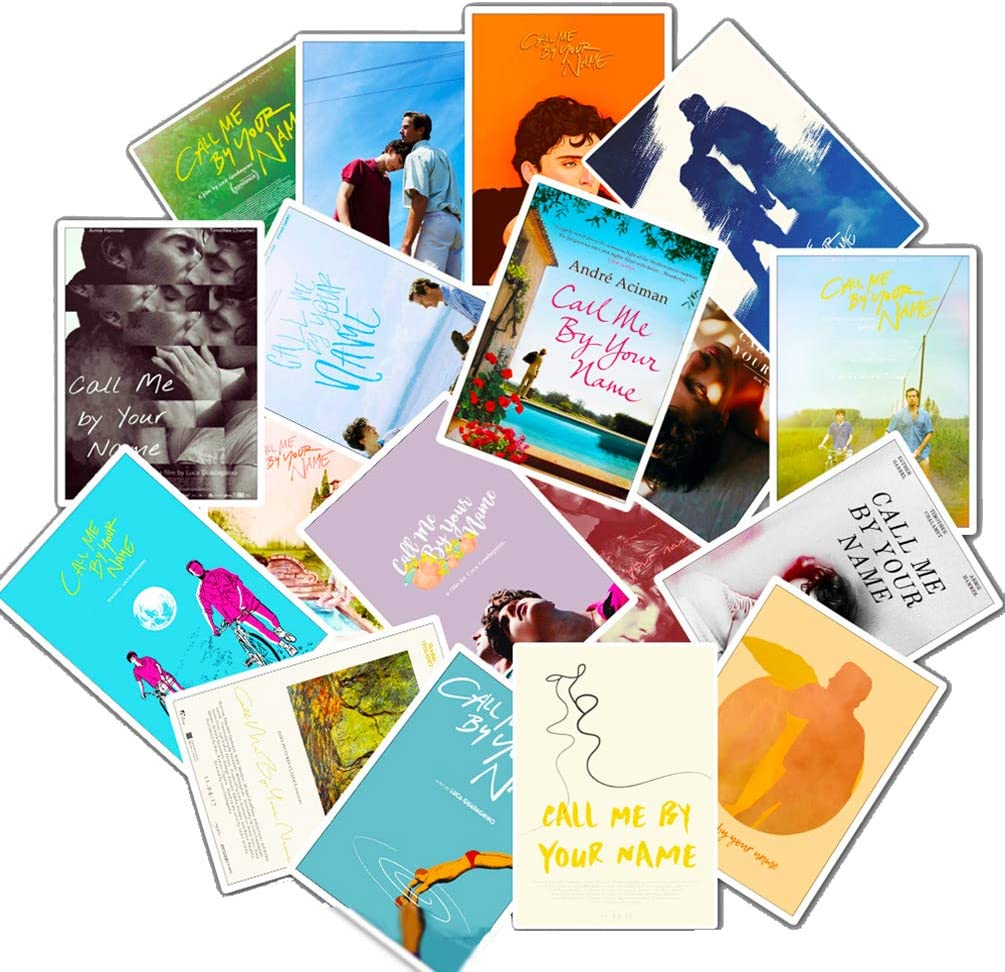 Call Me by Your Name Stickers Movie Poster Cards Stickers for Laptop Water Bottles Bike Luggage Phone Computer 25pcs