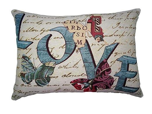 SABANALIA - Funda de cojín Loving, 40x60 cm: Amazon.es: Hogar