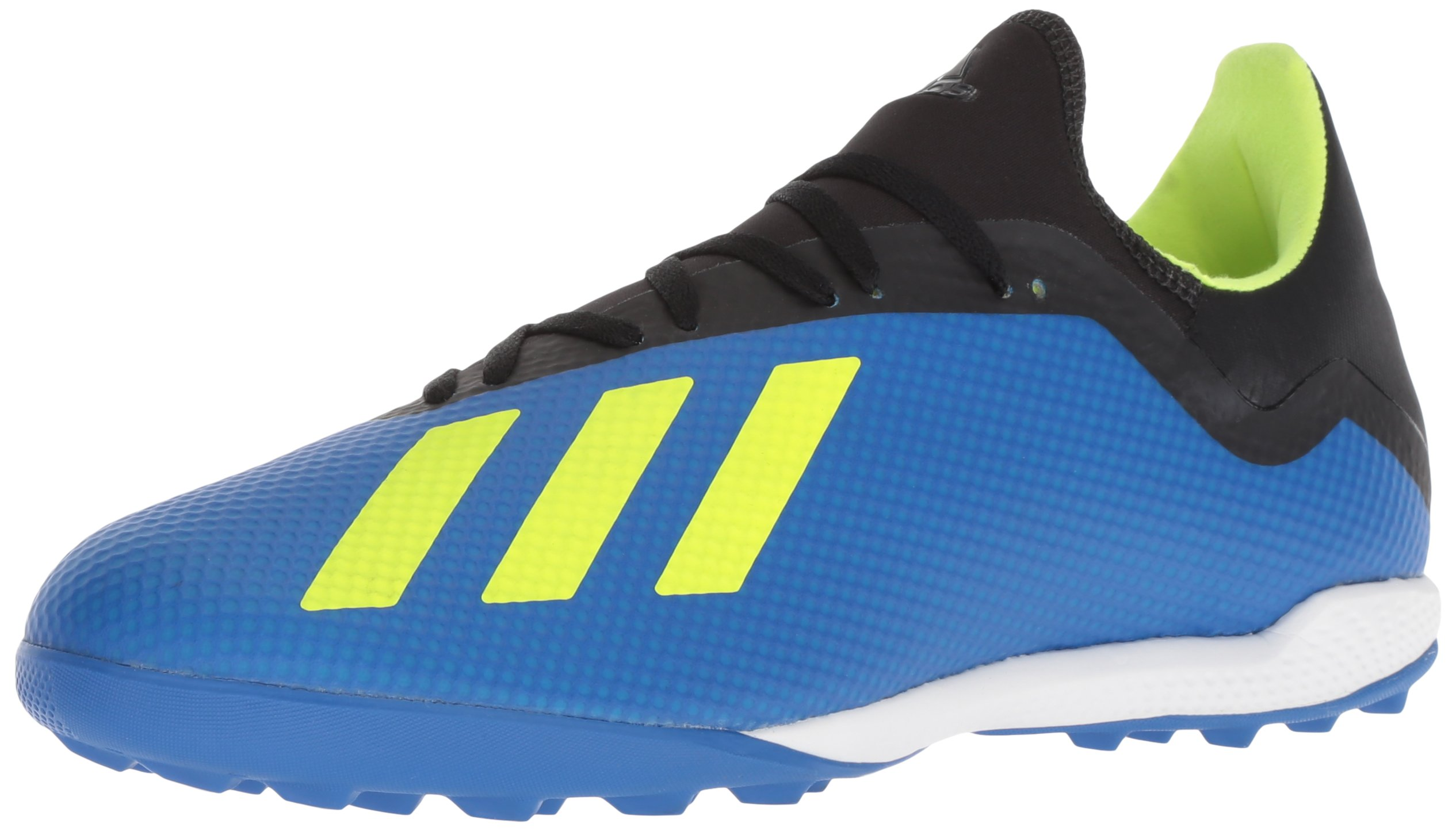 adidas Men's X Tango 18.3 Turf Soccer Shoe, Football Blue/Solar Yellow/Black, 9.5 M US