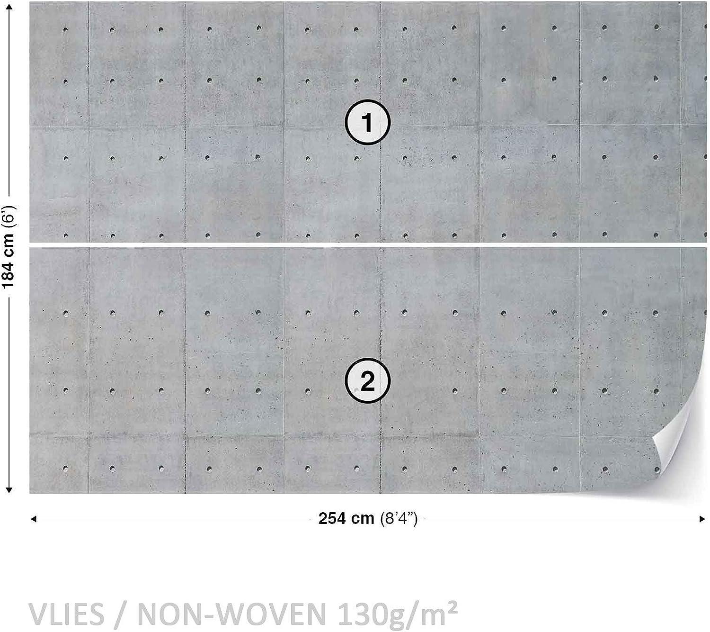 368 x 254 cm intiss/é Taille XS S M L XL XXL XXXL Breite x H/öhe Tapeto Imitation Papier peint photo textur/é et textur/é gris Paroi b/éton non tiss/é ou papier peint
