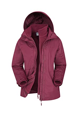 new products 35577 b2b2c Mountain Warehouse Fell Wasserabweisende 3 in 1 Damen Winterjacke, warme  Fleecejacke, Regenjacke, Damenjacke, Funktionsjacke, Allwetterjacke, ...