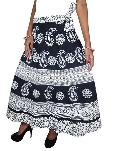 Mogul Interior - Falda - para mujer Multicolor negro, blanco Talla única: Amazon.es: Ropa y accesorios