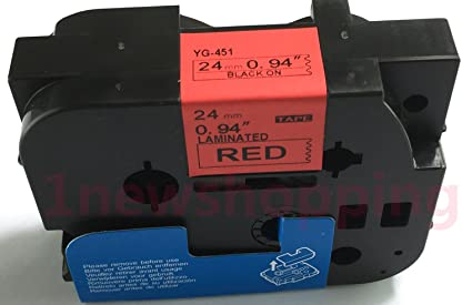 Schriftband TZE-411 6mm Schwarz auf Rot kompatibel zu Brother P-touch