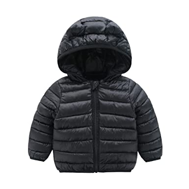 3de72e6550d2 CECORC Winter Coats for Kids with Hoods (Padded) Light Puffer Jacket for  Outdoor Warmth