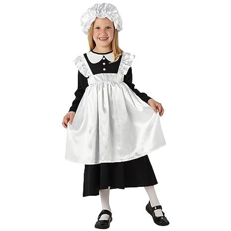 Cameriera Vittoriano - Costume per Bambini - Medio - 116 centimetri ... ad2842fb1c77