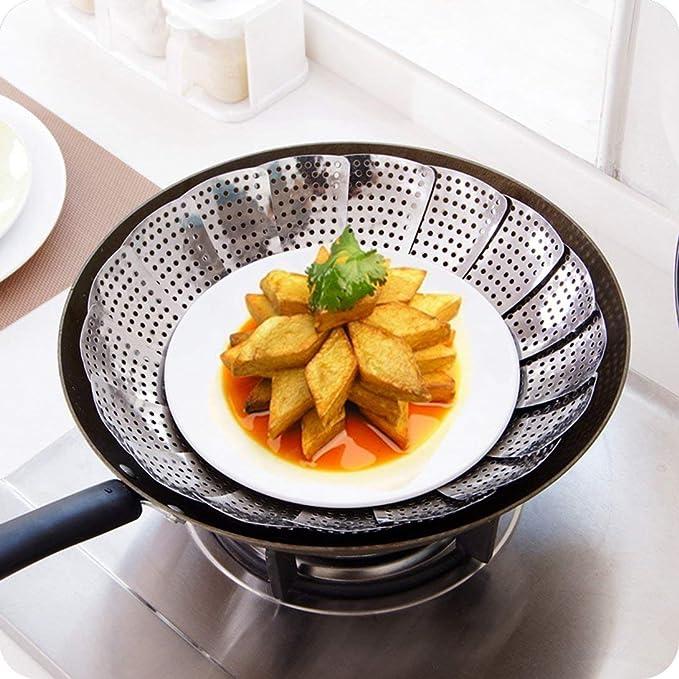 1 pieza de acero inoxidable plegable comida verduras huevo ...