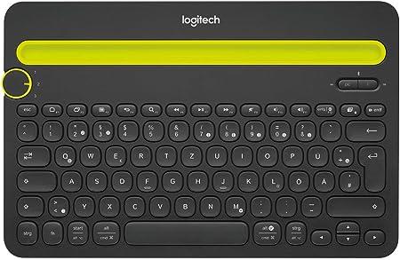 Logitech K480 Teclado Inalámbrico Multidispotivo para Windows, Disposición QWERTZ Alemán, Negro