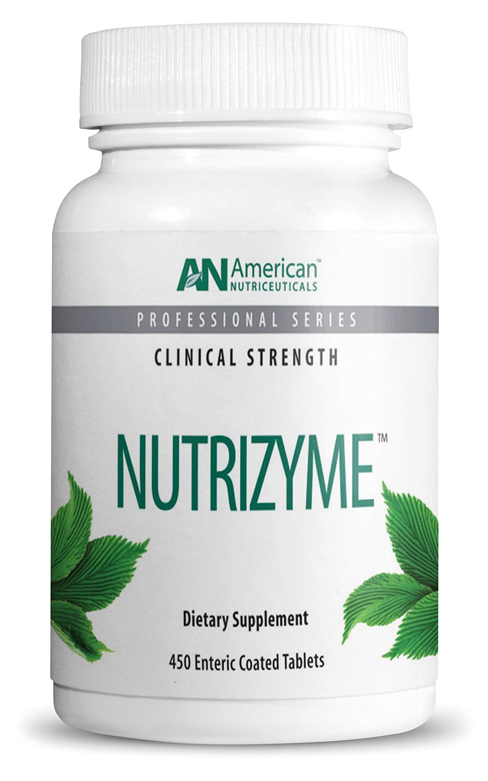 American Nutriceuticals - Nutrizyme - 450 Tablets - Professionally Formulated Proteolytic Enzyme Complex - Supports Immunity, Circulation & Metabolic Balance