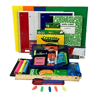 Combined Elementary School Supply Pack for Boys 26 Pieces , Kindergarten, 1st, 2nd, 3rd, 4th, 5th and 6th Grades: Toys & Games