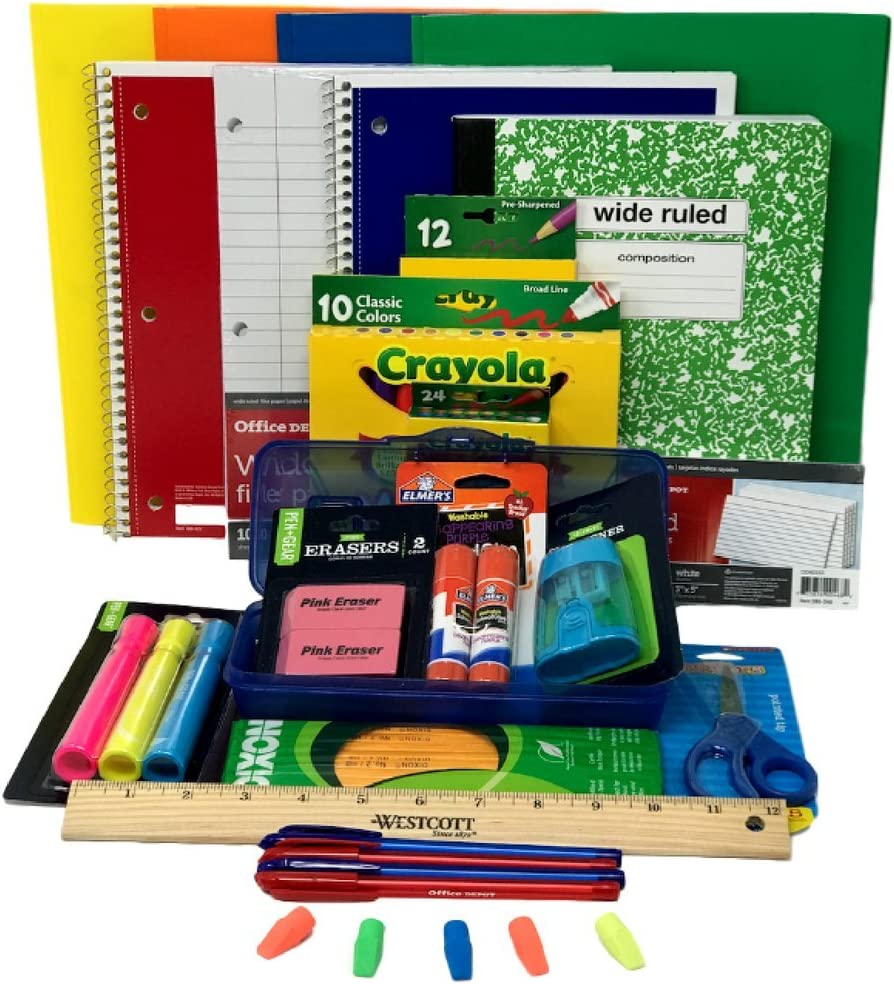 5th and 6th Grades Combined Elementary School Supply Pack for Boys 26 Pieces 1st 3rd 4th 2nd Kindergarten
