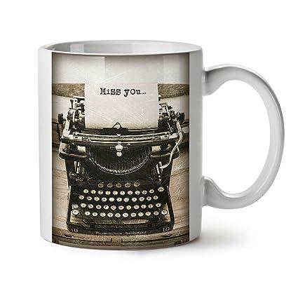 Wellcoda - Taza de café de cerámica con diseño de máquina de Escribir Remington estándar,