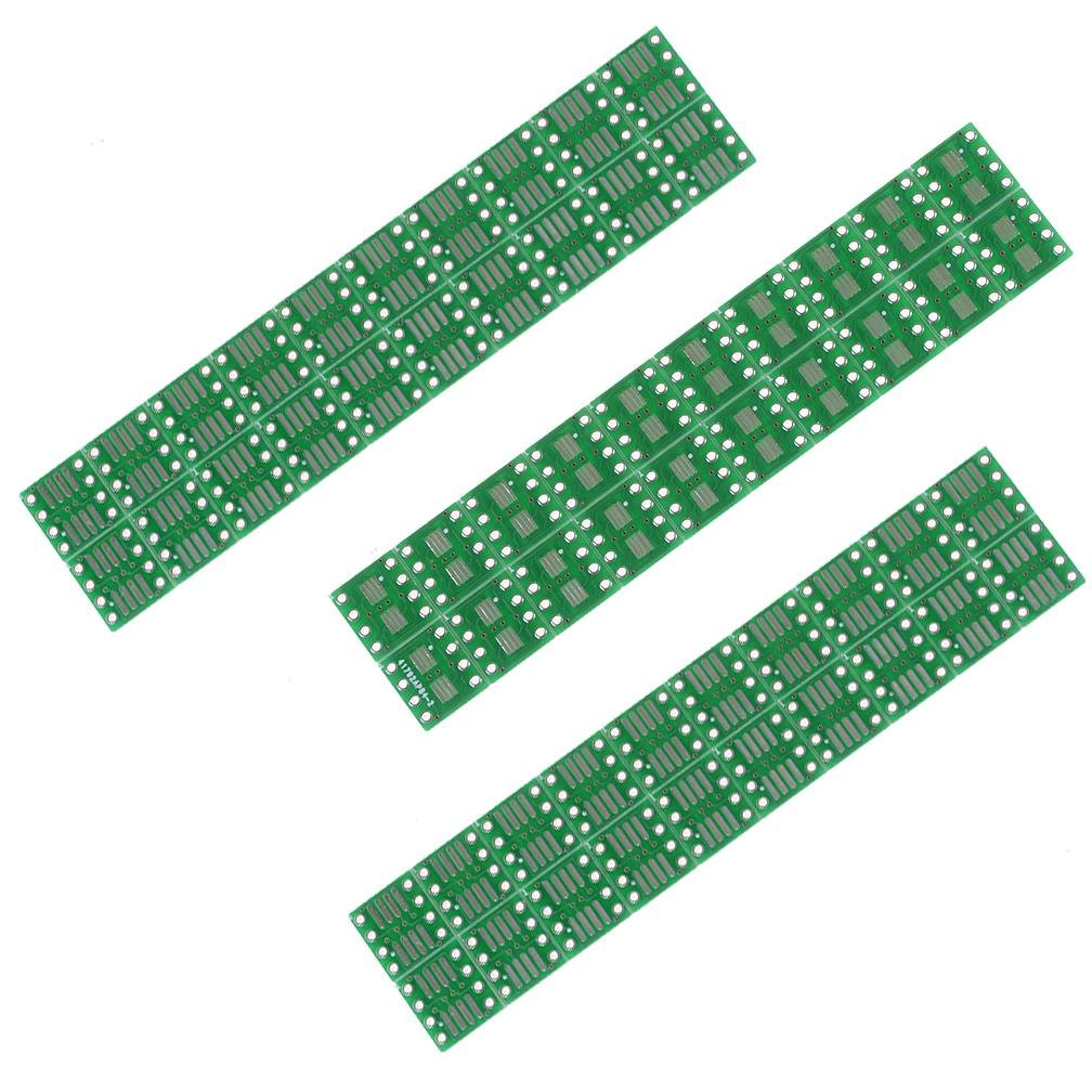 60 PCS/Set SOP8 SO8 SOIC8 SSOP8 TSSOP8 MSOP8 Adapter 0.65/1.27mm PCB Board Convertor Double Sides by Wetrys Clarity Deal