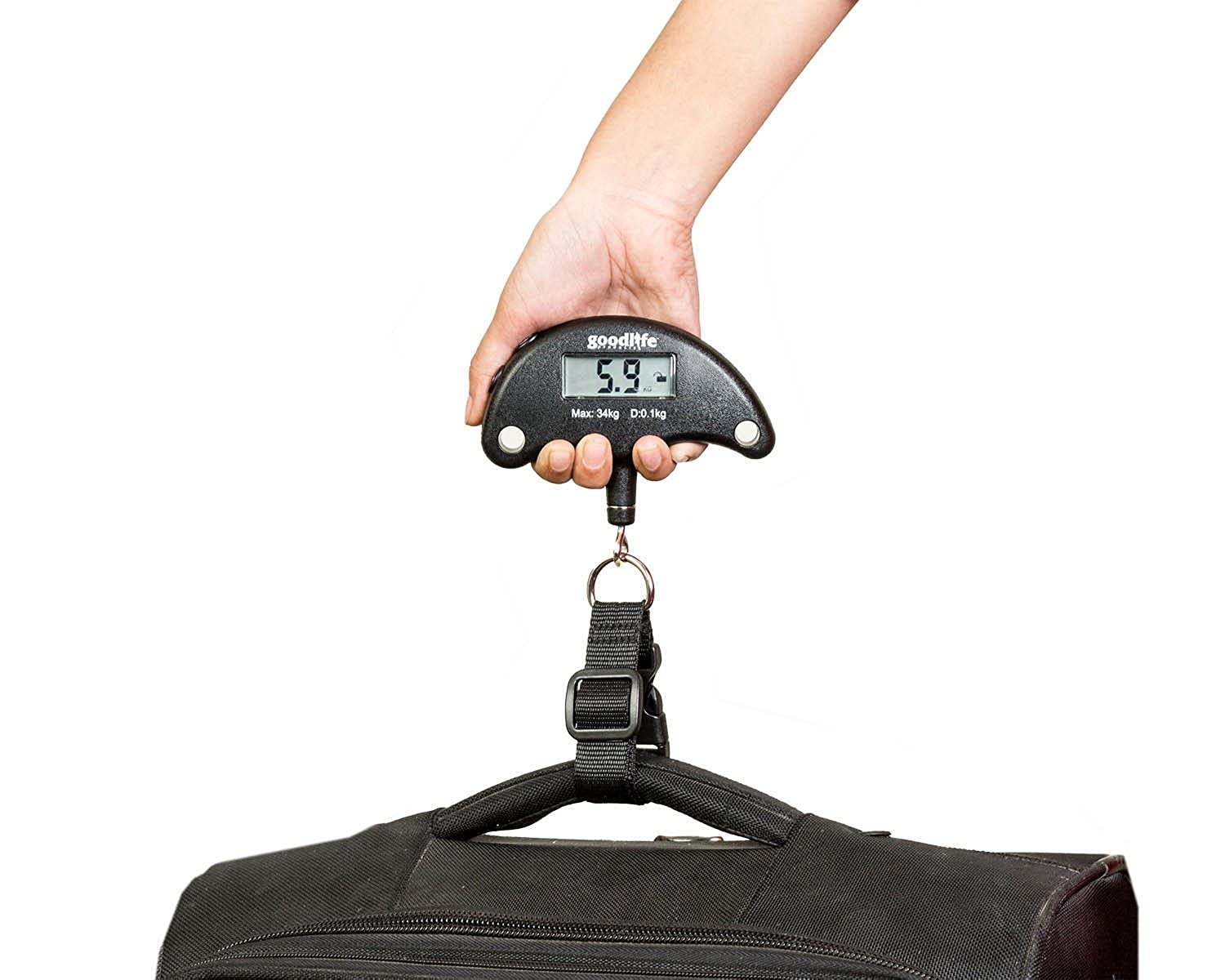 GoodLife Portable Digital Luggage Weighing Scale Li Battery Incld GLL-001 75lb//35kg