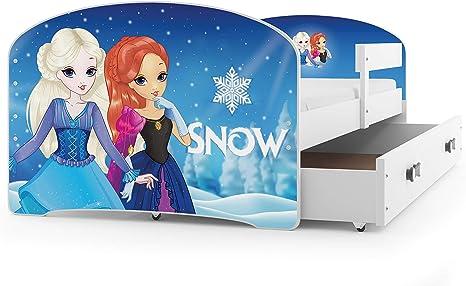 Interbeds Cama Individual LUKI - Blanco,160X80, con cajón, somier y colchón de Espuma Gratis! (Snow)