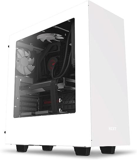 NZXT - Caja de Ordenador S340 Formato ATX con Ventana (CA-S340W-W1), Color Blanco: Amazon.es: Informática