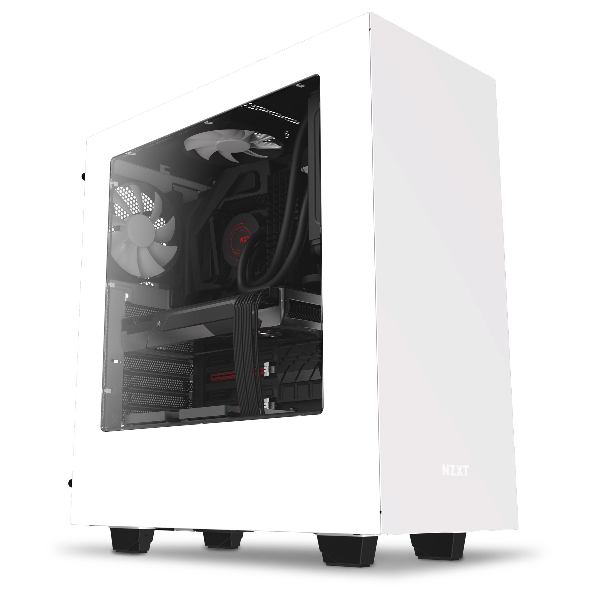 NZXT S340 Mid Tower Computer Case, White (CA-S340W-W1) by Nzxt (Image #1)