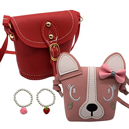 fb79061f421f Buy 2pc Little Girls Purses Cute Shoulder Crossbody Bag with Bracelet Set  for Kids Toddler Girls Online at Low Prices in India - Amazon.in