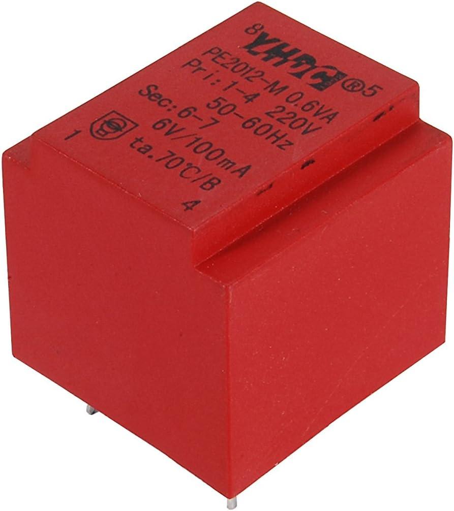 YHDC PCB Transformador de aislamiento de soldadura PE2012-M 0,6 VA 220 V/24 V