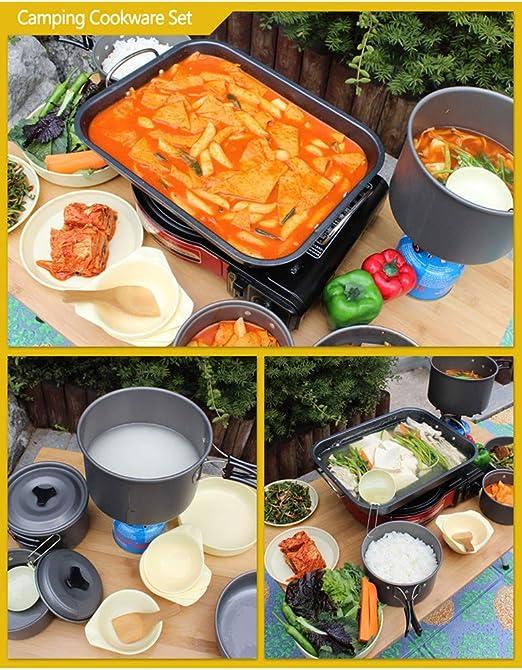 Set Utensilios De Cocina Camping 13 Piezas, con SartéN ...