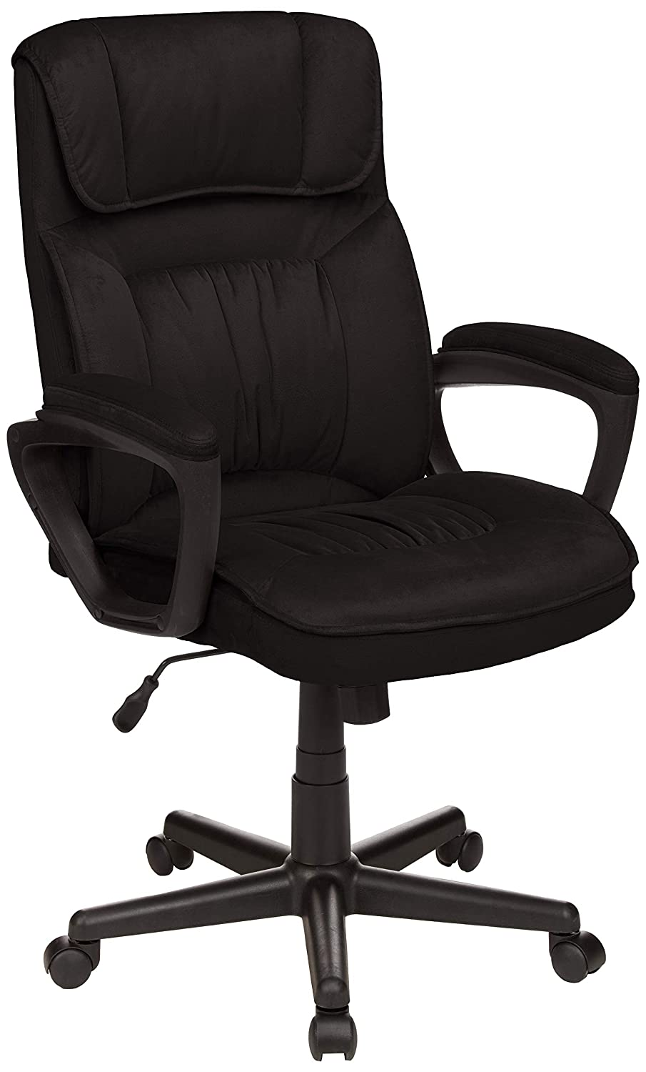 AmazonBasics Classic Office Chair - Adjustable, Swiveling, Microfiber Cover - Black