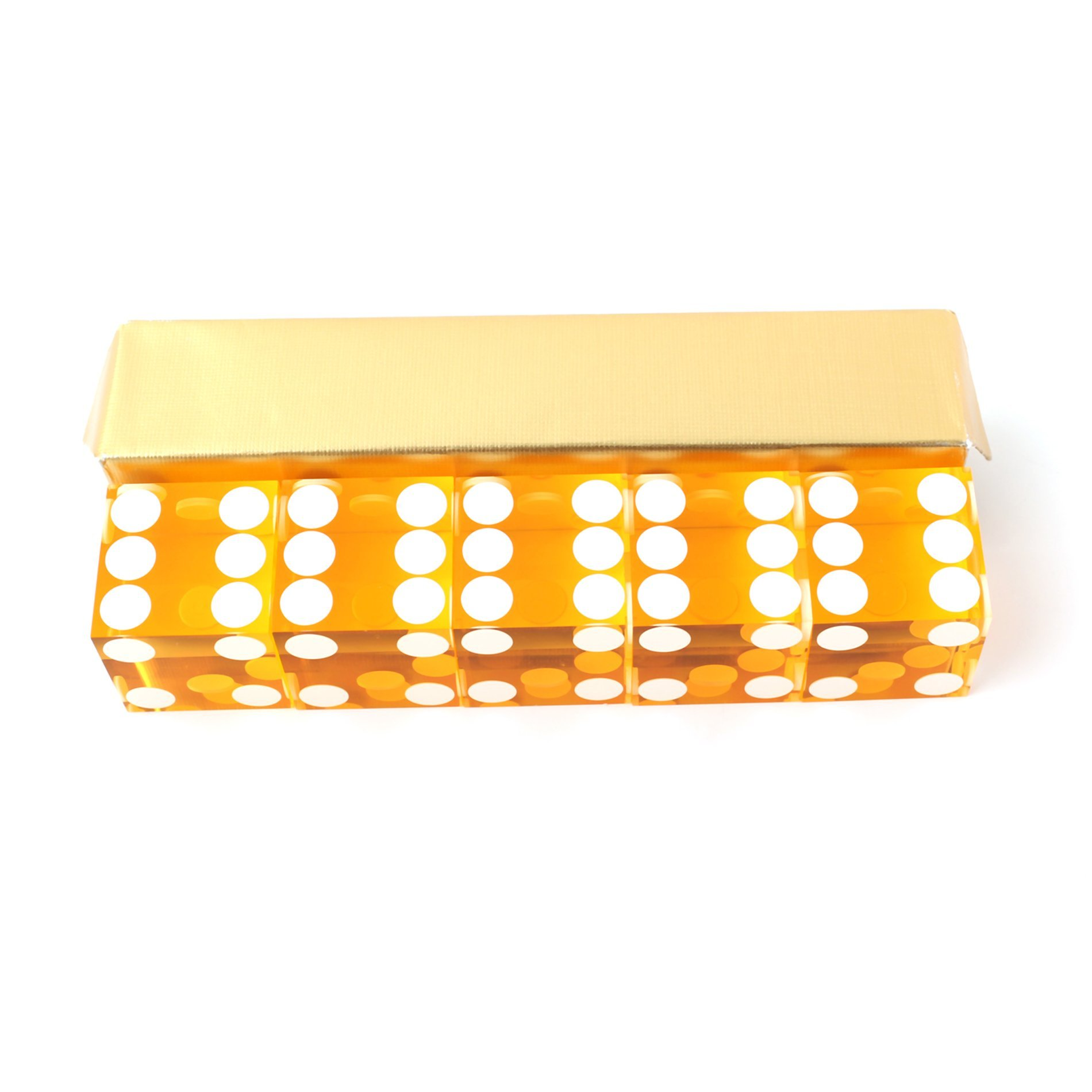 IDS Yellow Casino Craps Dice 19mm Grade Set of 5 Razor Edge Stick