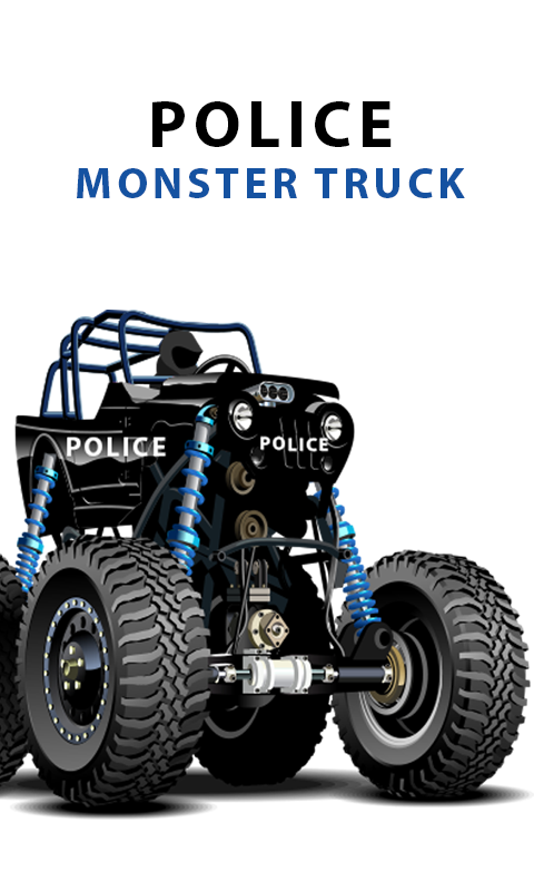 Amazon.com: Police monster truck racing games for kids ...