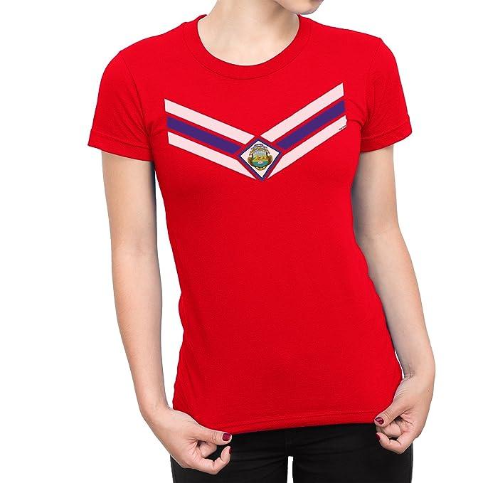 De Las Mujeres Costa Rica Team Emblem Señoras Fútbol Camiseta Copa del mundo2018 Retro Sports: Amazon.es: Ropa y accesorios