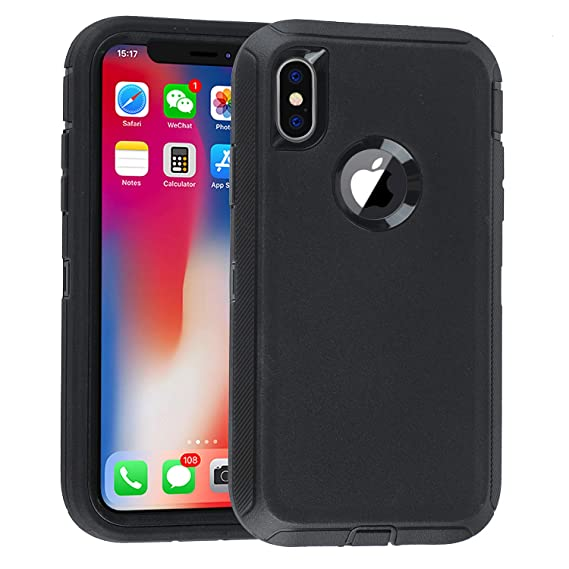 new product fd826 b4202 iPhone XR Case with Tempered Glass Screen Heavy Duty Cover Co-Goldguard  Armor 3 in 1 Rugged Cover Shockproof Drop-Proof Scratch-Resistant Full ...