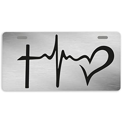 Eprocase License Plate Cover Hope Love Faith License Plate Aluminum Car Plates Decorative Car Tag Sign Metal Auto Tag Front License Plate 2 Holes
