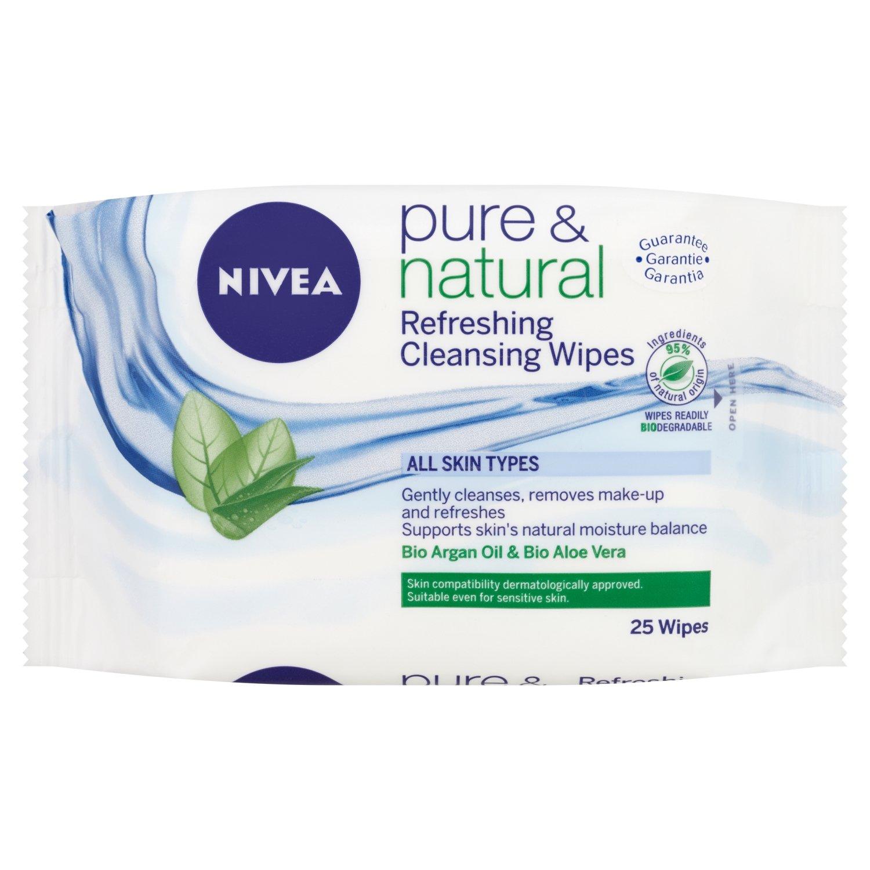 Nivea Visage Pure and Natural - Salviette detergenti senza profumo - 6 confezioni x of 25 pz. (150 salviette) BEIERSDORF UK 81902