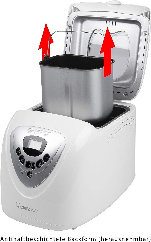 Clatronic BBA 3505 Panificadora programable, capacidad 1 kg, 12 programas cocción, 39 posibilidades, 600 W, 2 litros, Plástico: CLATRONIC: Amazon.es: Hogar