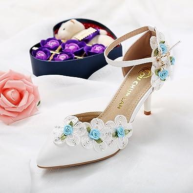 LOU CHUN LAN White Wedding Shoes Female