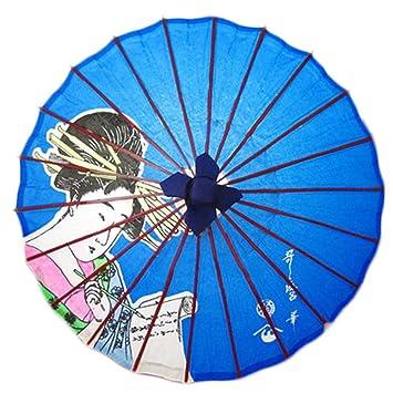 No-impermeable al óleo a mano papel japonés paraguas Restaurante decorado con paraguas #49