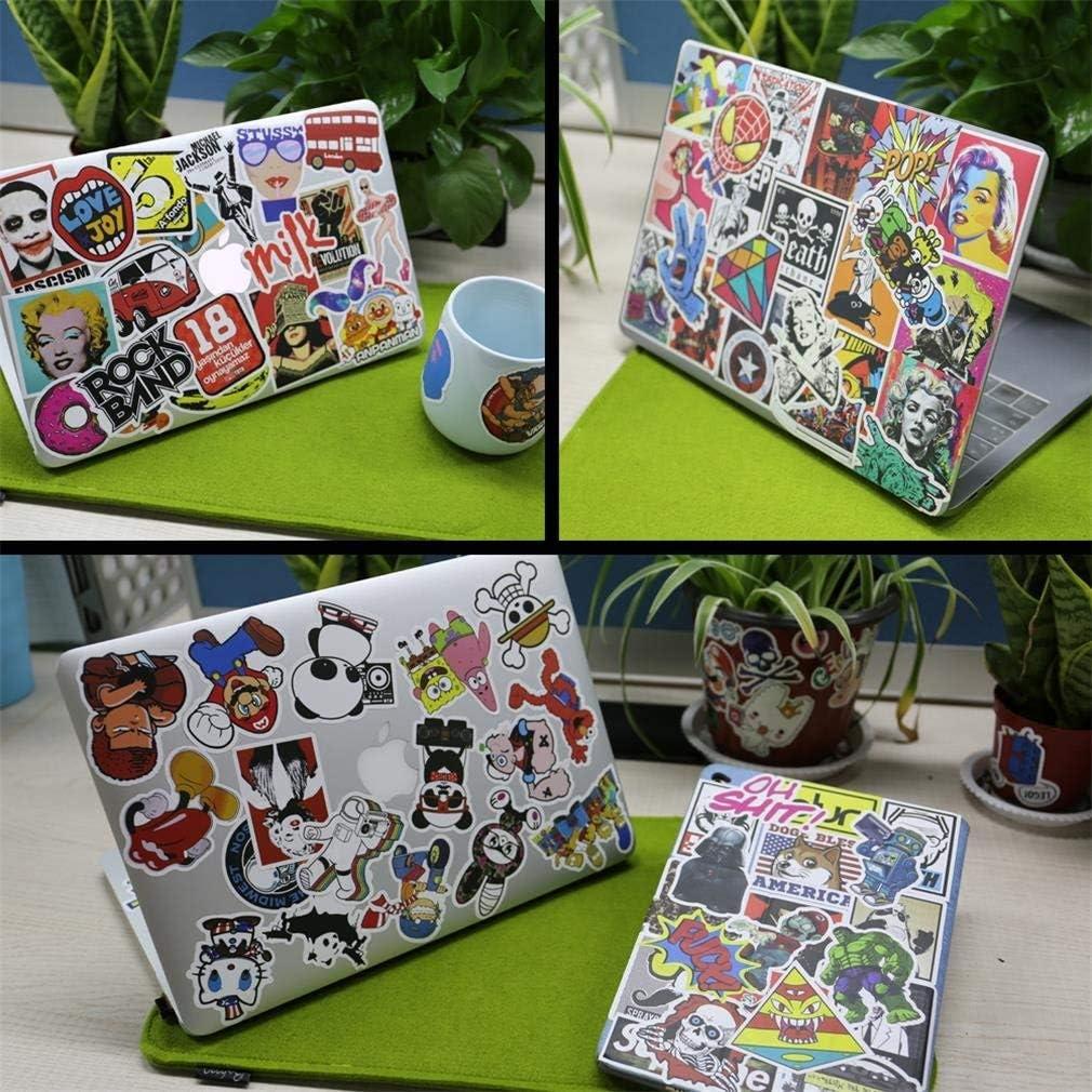 HAMISS 200pcs Mixed Cartoon Toy Stickers Doodling Travel DIY Cool Funny Waterproof Graffiti Sticker for Scrapbooking Refrigerator Suitcase Laptop Car Helmet Skateboard Luggage Graffiti Decals