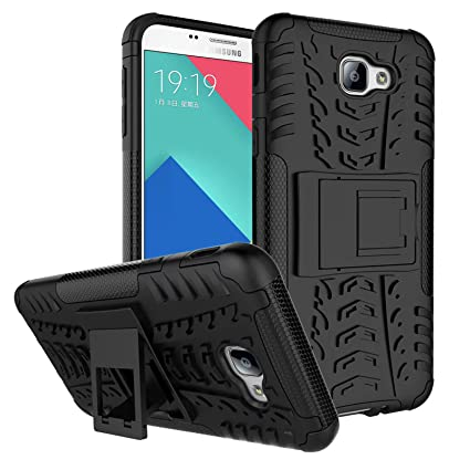 buy online 6ffb2 f0215 DMG Galaxy A9 Pro Kick Stand Cover, Protective Heavy Duty Dual Layer Back  Cover Case for Samsung Galaxy A9 Pro (Black)