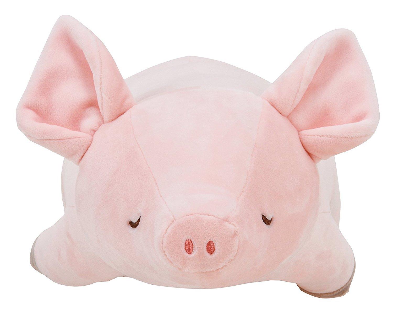 LivHeart Premium Nemu Nemu Body Pillow Hug Pillow Pig (M) Pinky