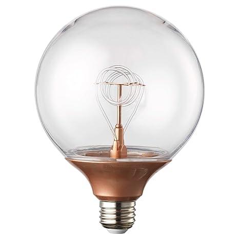 best website 60ec9 092e6 IKEA 103.173.48 Nittio Led Bulb E26 20 Lumen, Globe Copper Color
