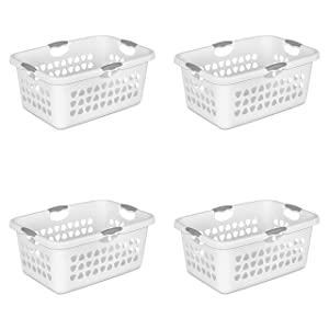 STERILITE 2 Bushel Laundry Basket, White (Available in Case of 4 or Single Unit)