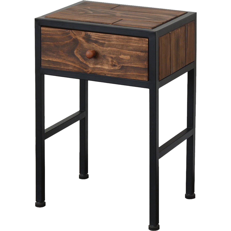 BBファニシング サイドテーブル GRANT 幅37.5×奥行27.3×高さ55cm GRST-375 GRST-375 B01G4QHYAC ブラウン