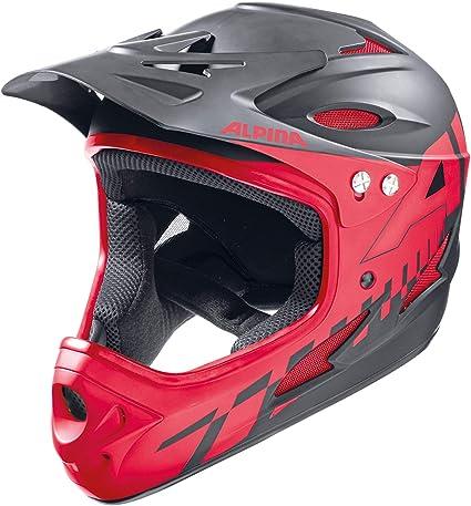 Orange//White Adults Downhill Comp Ski Helmets Alpina Sports Unisex 55-56