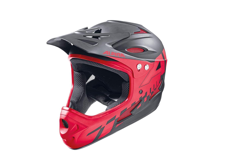 ALPINA(アルピナ) FULLFACE サイクリングフルフェイスヘルメット 59-60 ブラック/レッド B017COWFKO