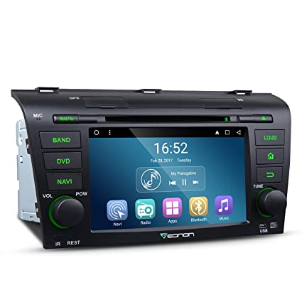 Eonon GA8151 Car Radio Stereo Audio 7 Inch Android 7 1 for Mazda Speed 3  2004,2005,2006,2007,2008 and 2009 Quad Core Car GPS Navigation In Dash  Touch