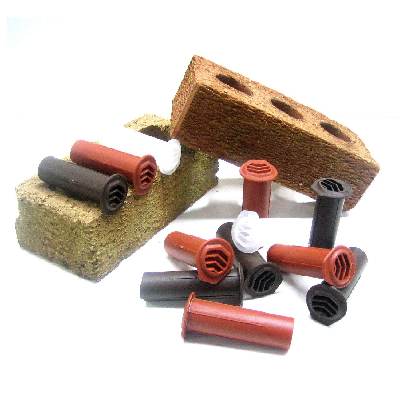 10 x Brown Drill Weep Vents Round Vent Cavity Rendered Walls Retaining Wall