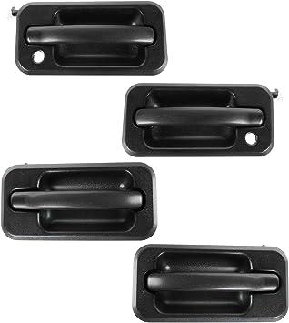 Amazon Com Exterior Outside Door Handle Black Textured Set Of 4 Lh Rh For 03 05 Hummer H2 Automotive