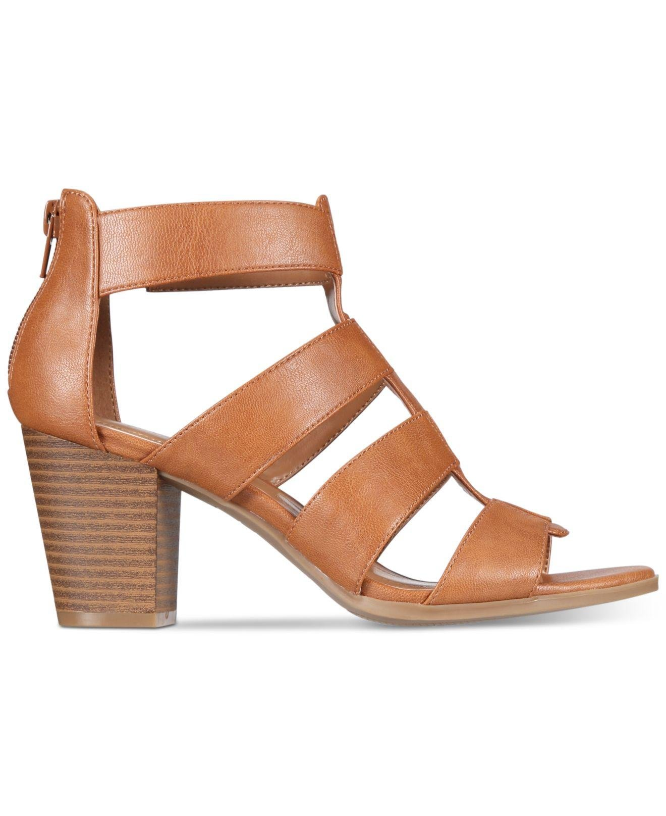 Style & Co. Womens Janinaap Open Toe Casual Strappy Sandals, Coffee, Size 7.0