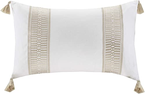 Harbor House Anslee Decorative Pillow, Deco Pillow, Tassel Taupe