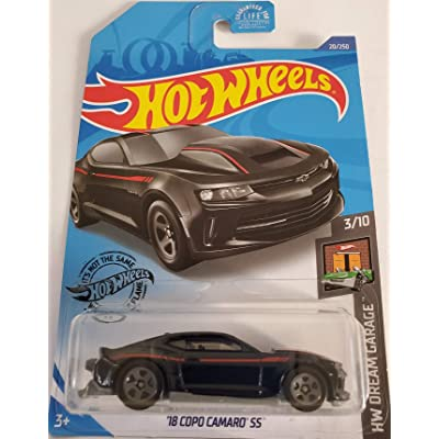 Hot Wheels 2020 Hw Dream Garage '18 Copo Camaro SS, Black 20/250: Toys & Games